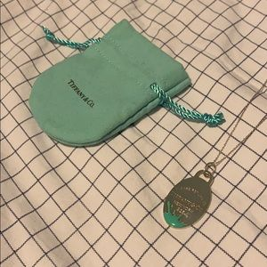 Tiffany & Co Oval Charm w/ 36inch Tiffany Chain